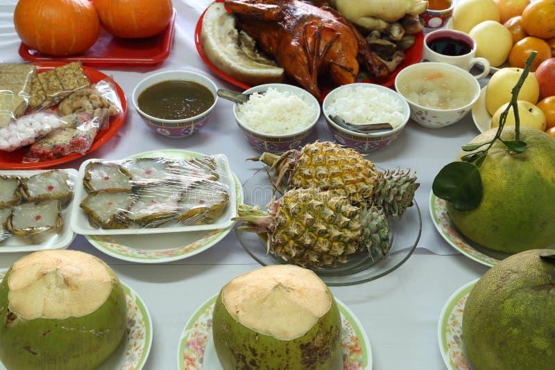 Vário alimento para a cultura chinesa do ano novo imagens de stock