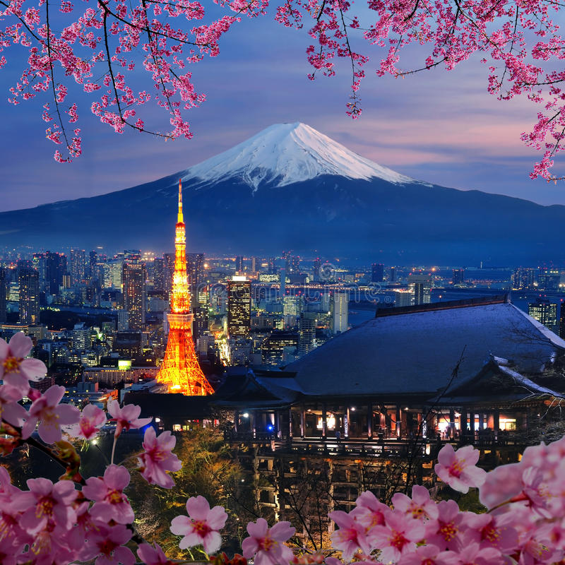 Vário destino do curso em Japão imagem de stock