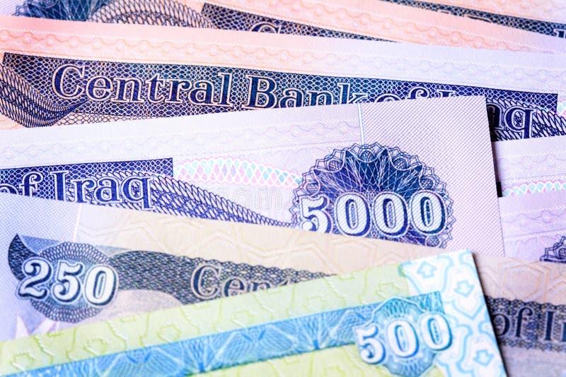 Vário dinar novo de Iraque foto de stock royalty free