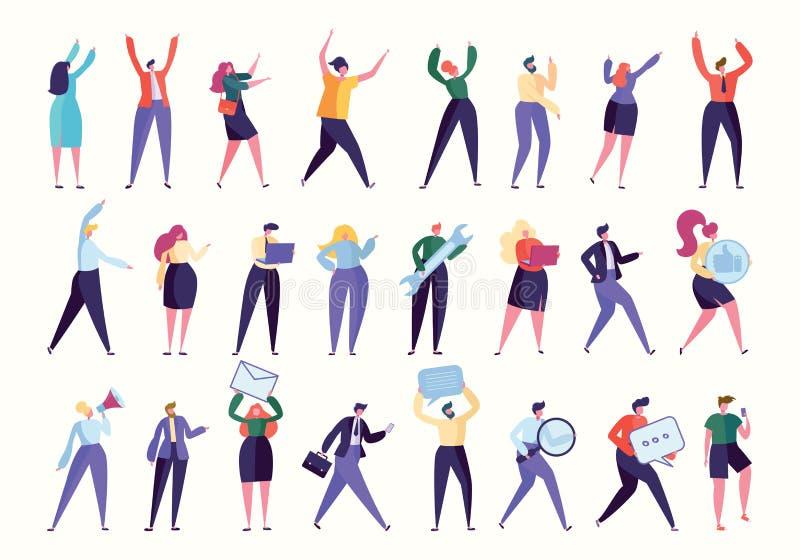Vário empregado Team Stand Together do gesto ilustração royalty free