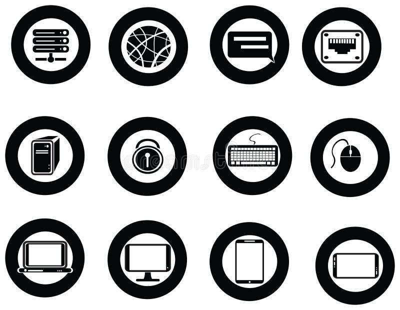 Vário grupo do ícone do universal a TI e da coleção do app ilustração do vetor