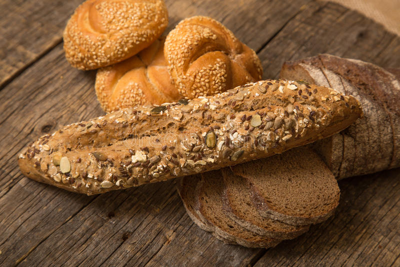 Vário pão fotografia de stock