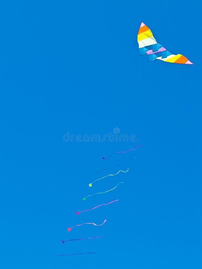 Vário voo colorido dos papagaios imagem de stock royalty free
