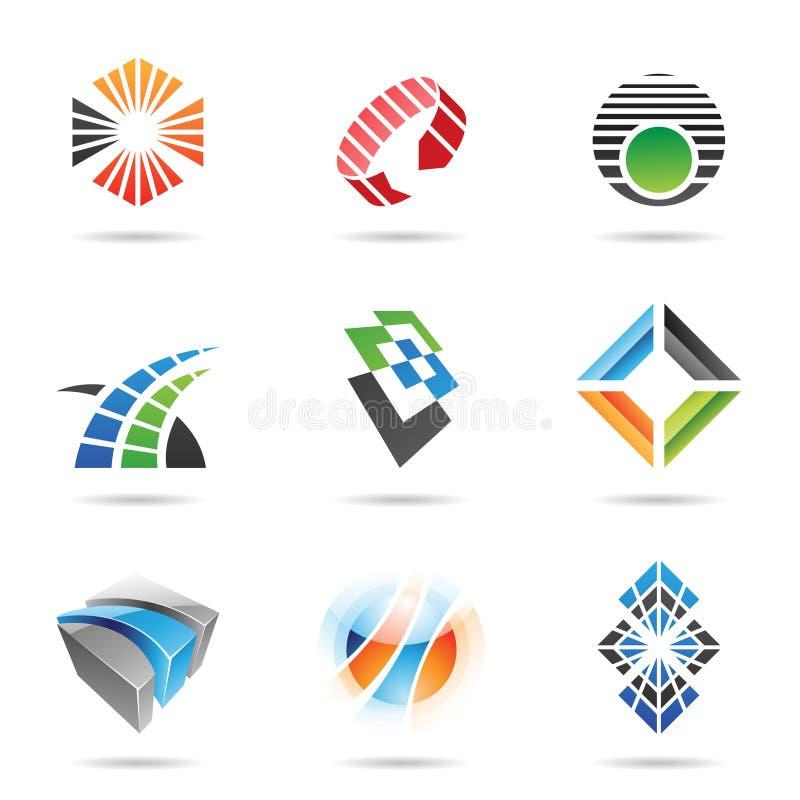 Vários ícones abstratos coloridos, jogo 8 ilustração royalty free