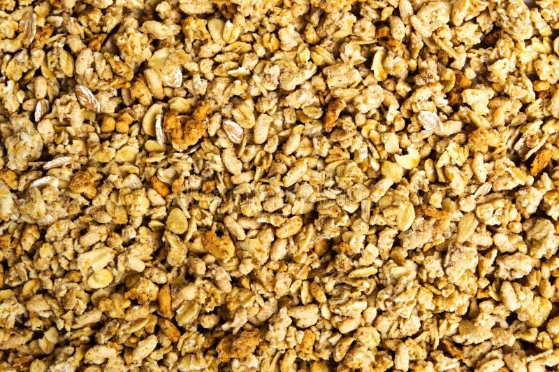 Vários cereais e fundo da mistura do granola fotografia de stock royalty free