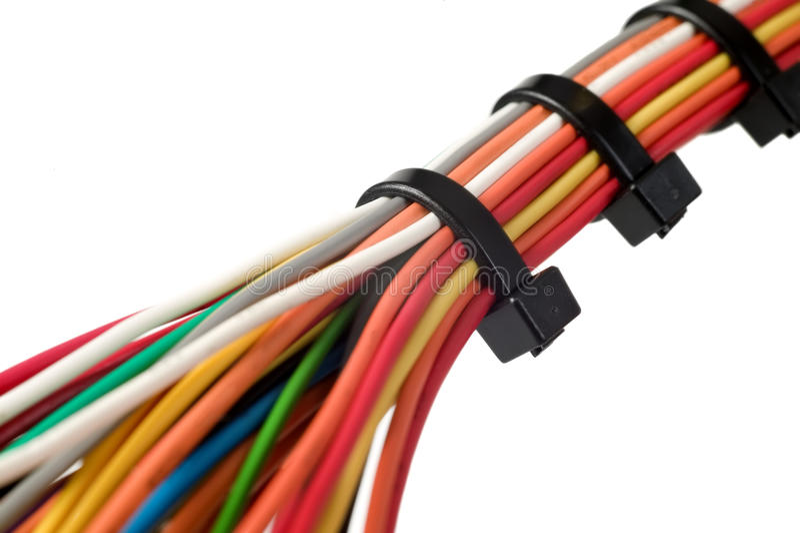 Vários fios elétricos fotografia de stock royalty free