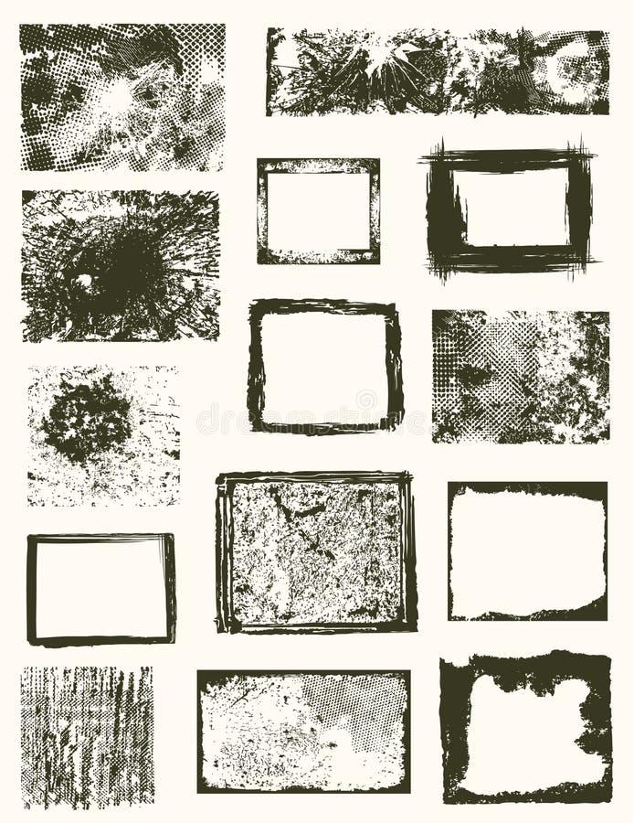 Vários frames do grunge   ilustração royalty free