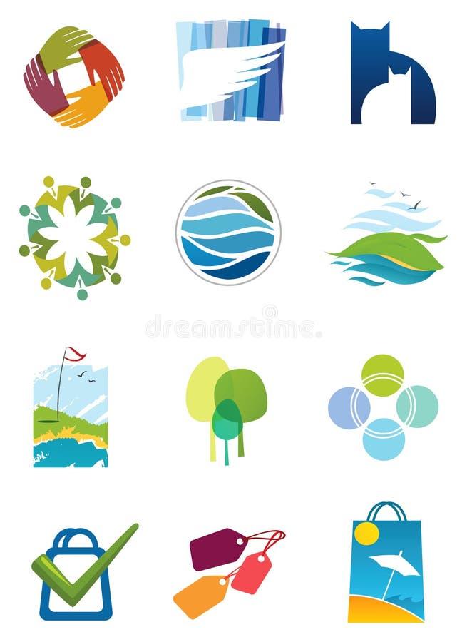 Vários icols ilustração do vetor