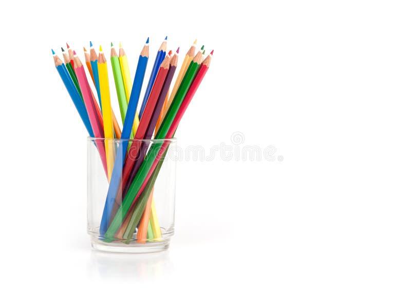 Vários lápis da cor fotos de stock