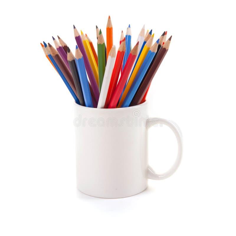 Vários lápis da cor foto de stock