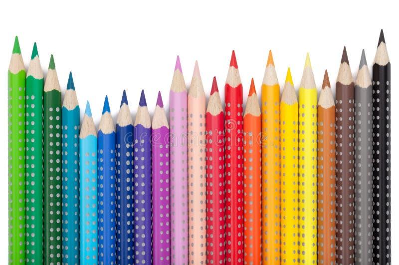 Vários lápis da cor imagens de stock royalty free