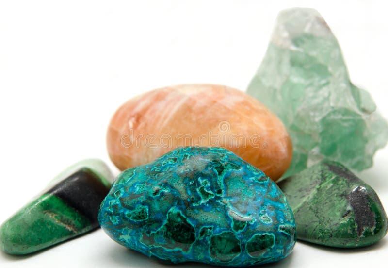 Vários minerais e cristais fotografia de stock royalty free