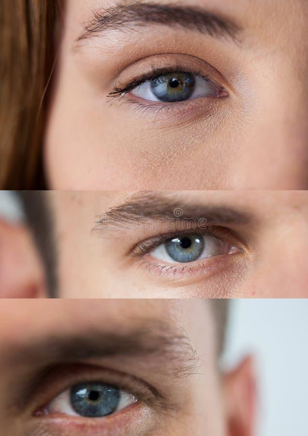 Vários olhos em série de três ilustração stock