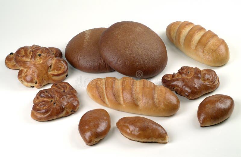 Vários pães fotografia de stock