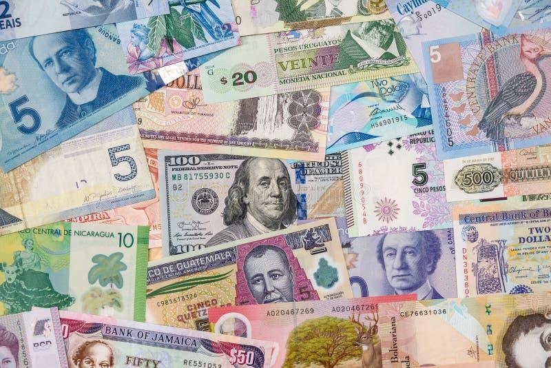 Vários países do dinheiro de América foto de stock royalty free
