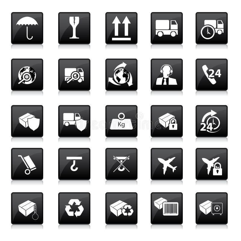 Vários sinais de empacotamento ilustração do vetor