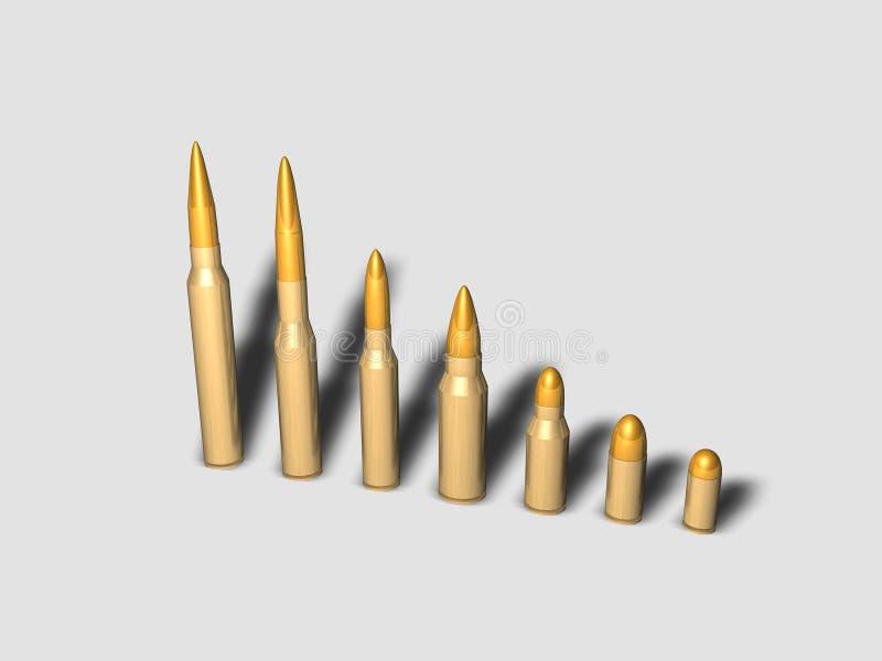Vários tipos de balas ilustração royalty free