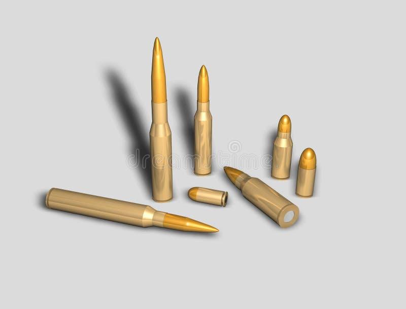 Vários tipos de balas ilustração do vetor