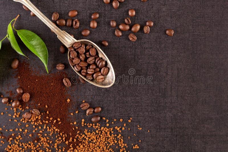 Vários tipos de café imagens de stock