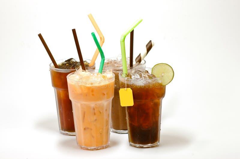 Vários tipos de chá gelado foto de stock royalty free