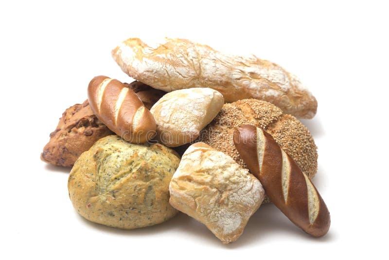 Vários tipos de pães do artesão imagens de stock royalty free