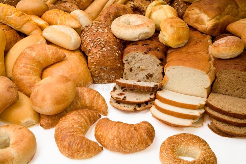 Vários tipos de pão fotografia de stock royalty free