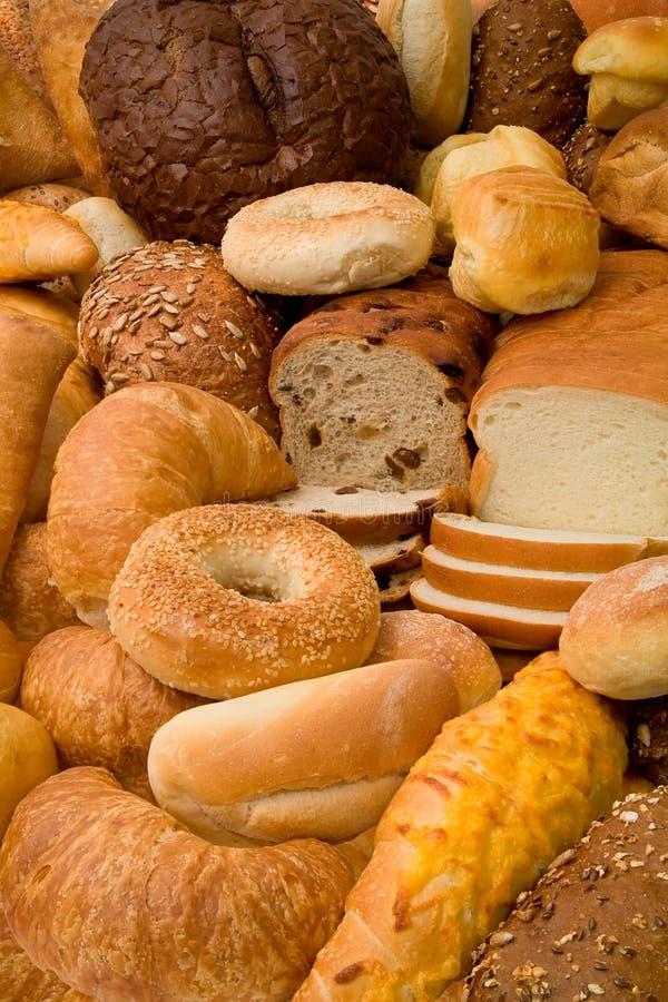 Vários tipos de pão fotos de stock