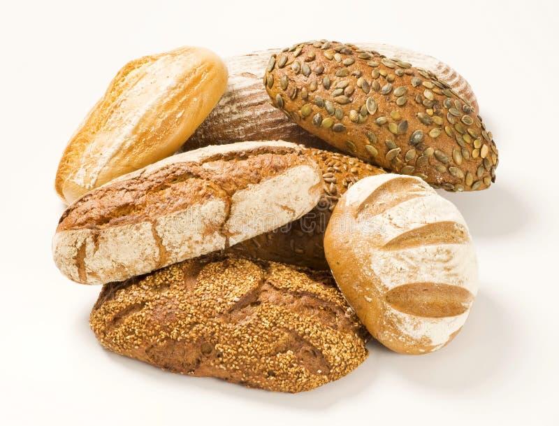 Vários tipos de pão imagem de stock
