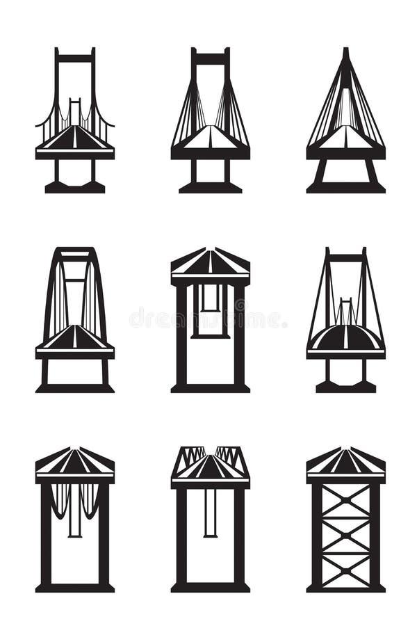Vários tipos de pontes ilustração do vetor