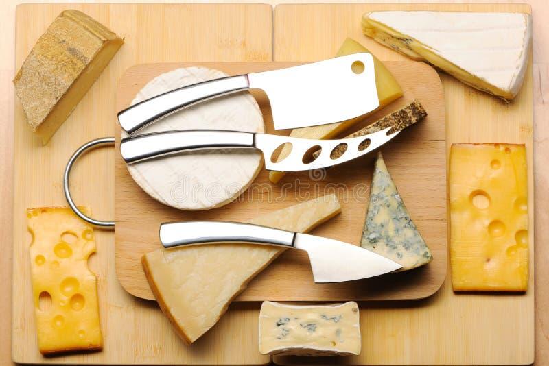 Vários tipos de queijo fotografia de stock