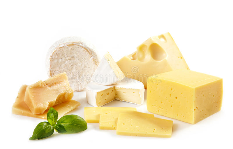 Vários tipos de queijo foto de stock