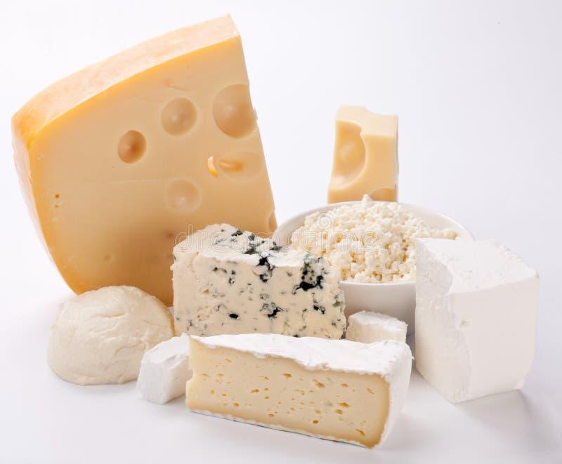Vários tipos de queijos. foto de stock royalty free
