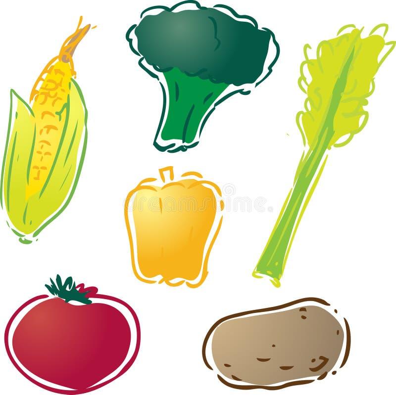 Vários vegetais ilustração royalty free