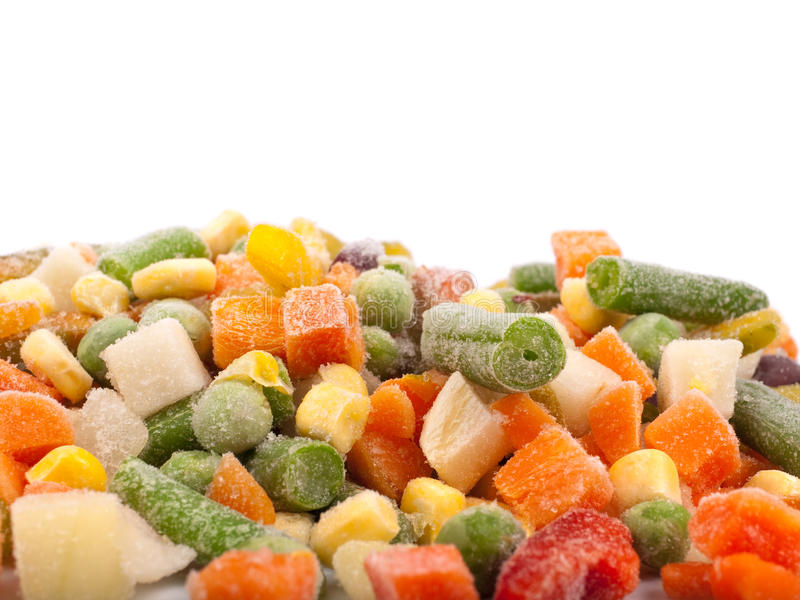 Vários vegetais congelados imagens de stock