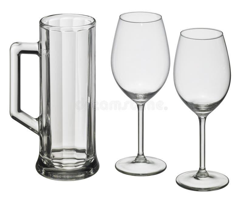 Vários vidros bebendo imagem de stock royalty free