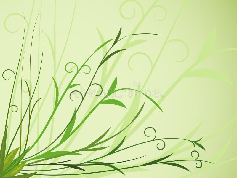 Vástago e hierba ilustración del vector