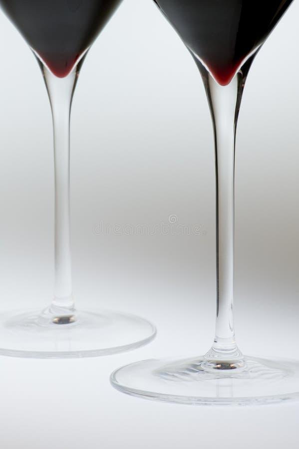Vástagos de los vidrios de vino imágenes de archivo libres de regalías