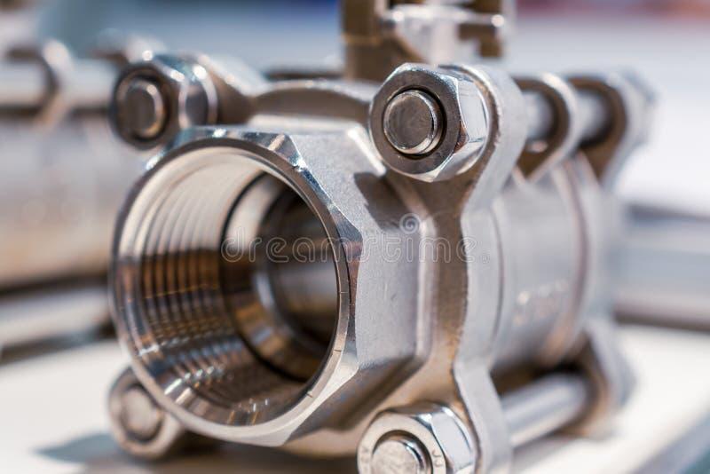 Vávula de bola de acero Válvulas de cierre modernas foto de archivo