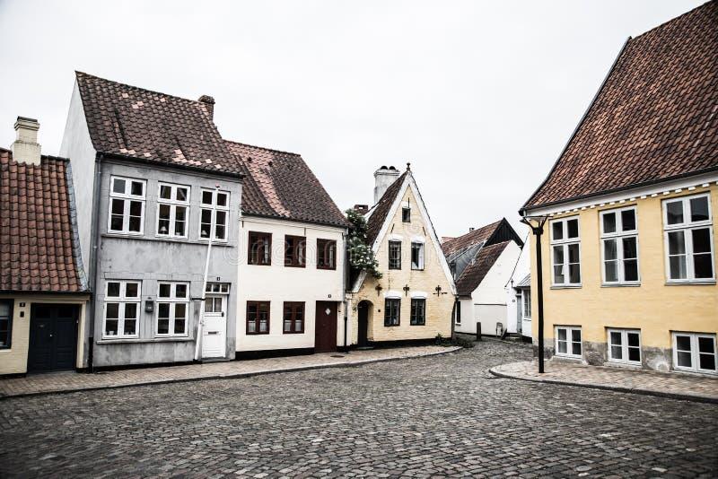 Vægterpladsen在Aabenraa 免版税库存图片