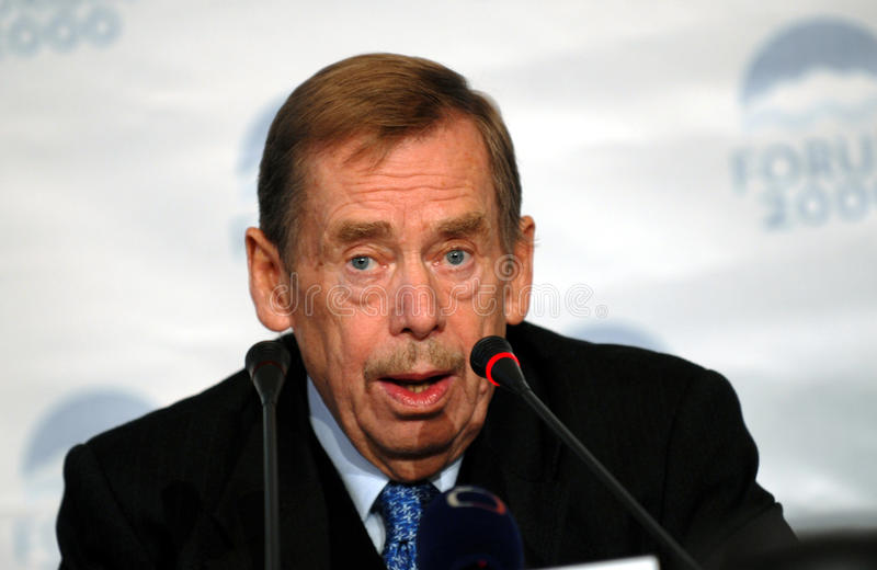 VÃÂ-¡ clav Havel royaltyfria bilder
