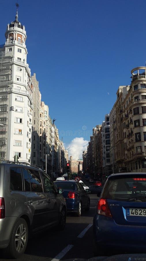 VÃa Madrid de Gran fotografía de archivo