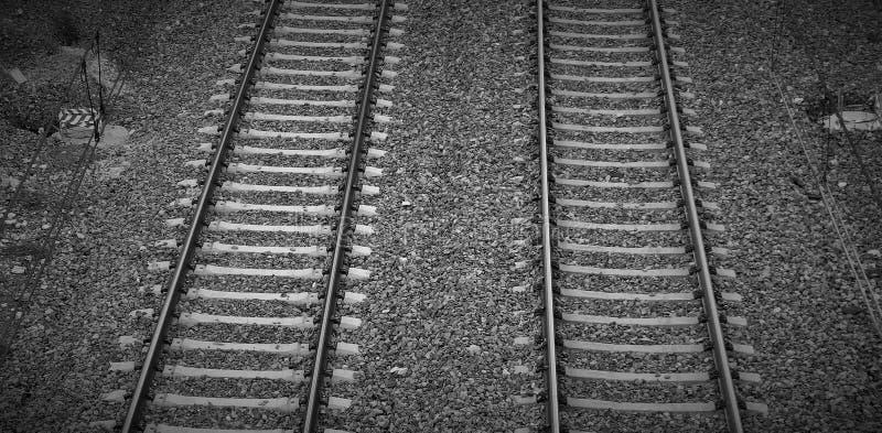 VÃas DE tren royalty-vrije stock foto's