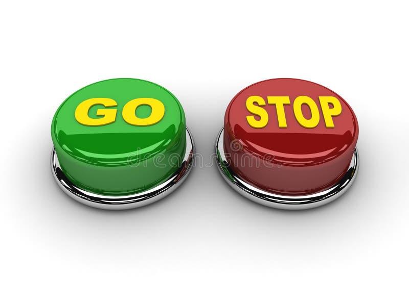 Vão os botões de parada. ilustração do vetor