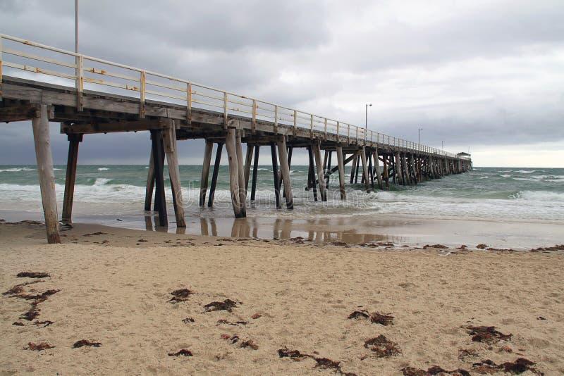väder för Australien dåligt grangebrygga royaltyfri bild