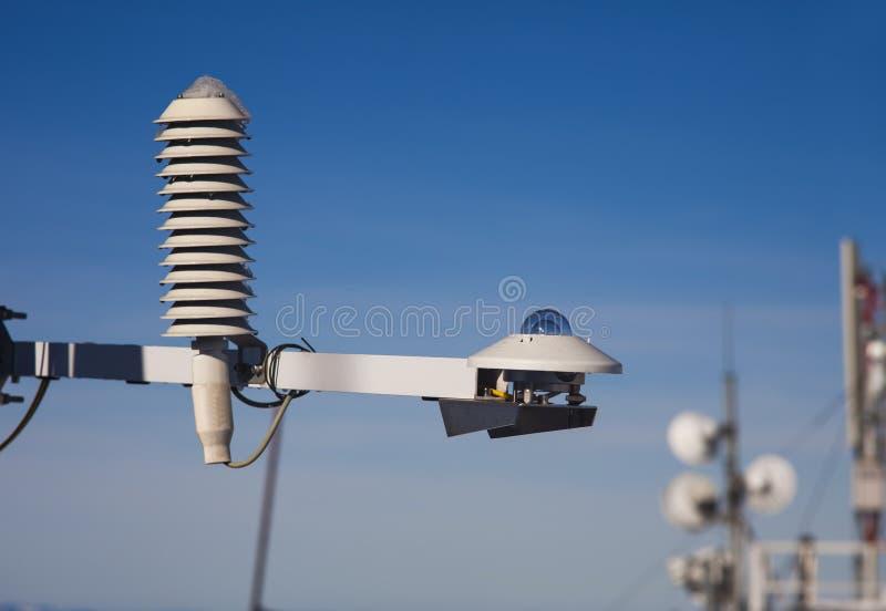 Väderinstrument för sol- utstrålning royaltyfria bilder