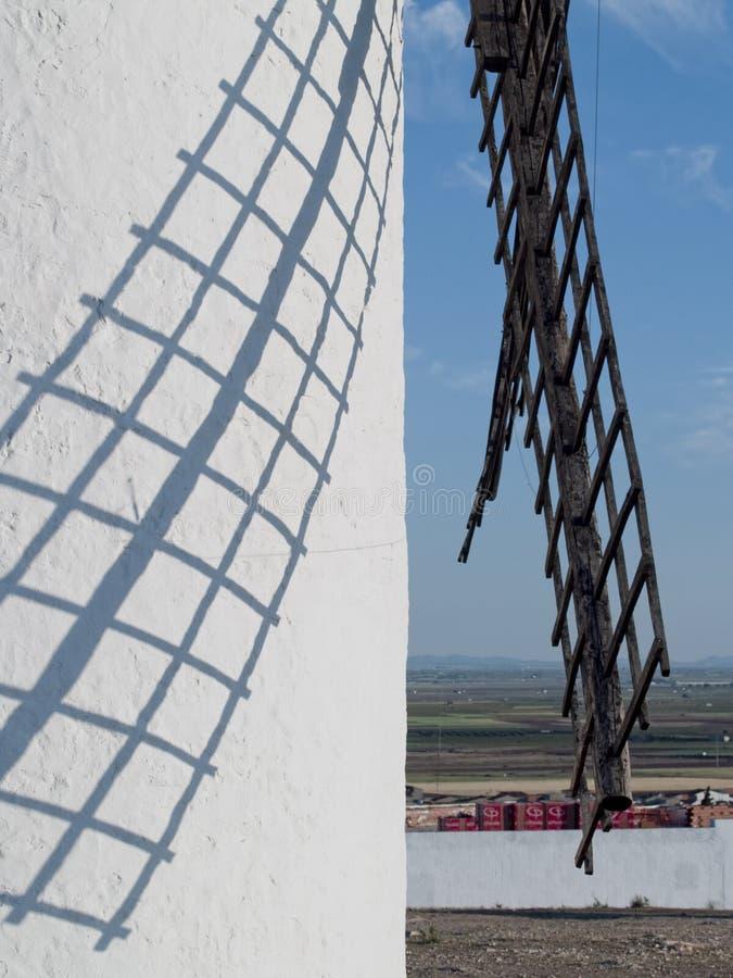 Väderkvarn på Campo de Criptana La Mancha Ciudad Real Spanien royaltyfri fotografi