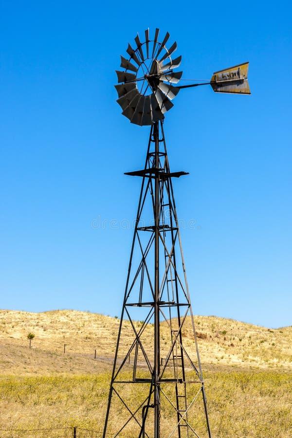 Väderkvarn västra Australien, slut upp bild royaltyfri fotografi