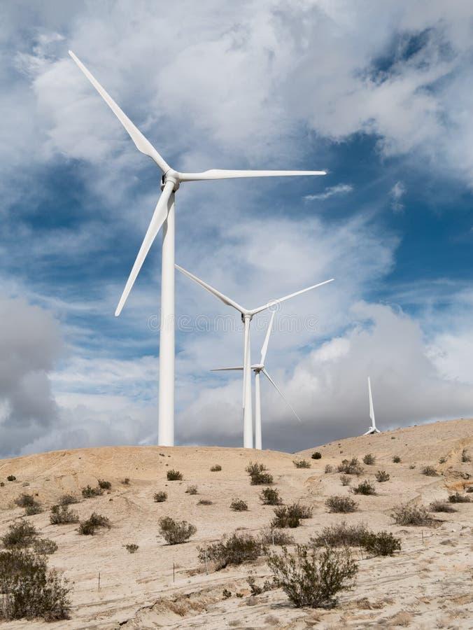 Väderkvarnar Coachella Valley arkivfoton