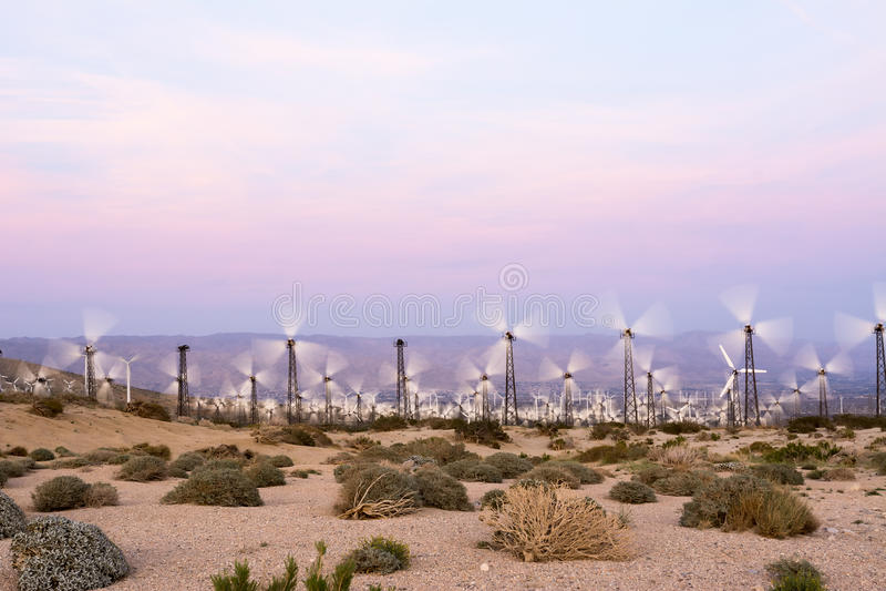 Väderkvarnar i Palm Springs royaltyfri foto