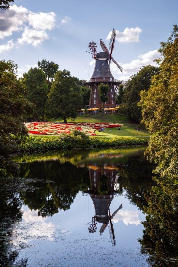 VäderkvarnBremen Tyskland royaltyfria foton